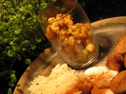 Recette de chou-fleur au curry et riz au citron