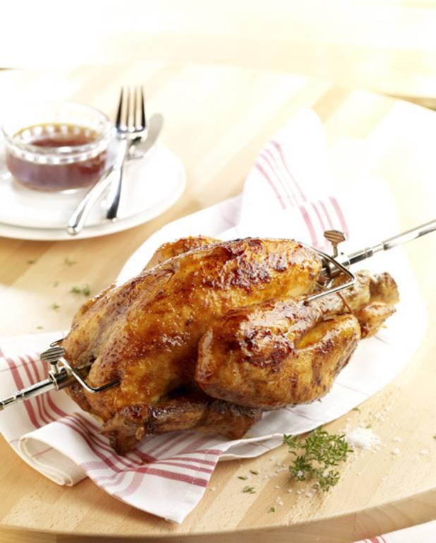 Poulet glacé aux canneberges