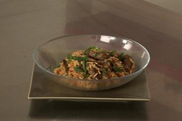 Recette de wok de boeuf au paprika, riz aux poivrons rouges facile ...
