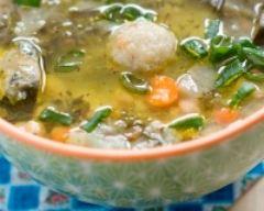 Recette soupe libanaise de lentilles, blettes, kibbeh et citron
