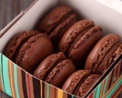 Recette macarons chocolat coeur de caramel au beurre salé