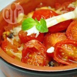 Recette gratin de ravioles de romans au chèvre et sa sauce tomate ...
