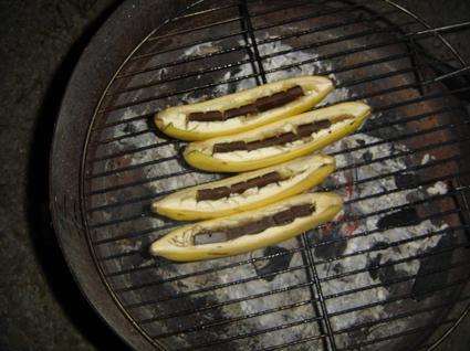Recette de bananes au barbecue