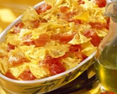 Recette gratin de pâtes à la tomate