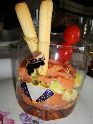 Recette de verrine au saumon