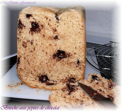 Recette de brioche aux pépites en machine à pain
