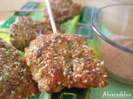 Recette de croquettes de poulet amandes, sésame et pavot bleu