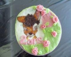 Recette gâteau d'anniversaire bambi au yaourt et pépites de chocolat