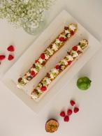Recette eclairs géants vanille et fruits acidulés