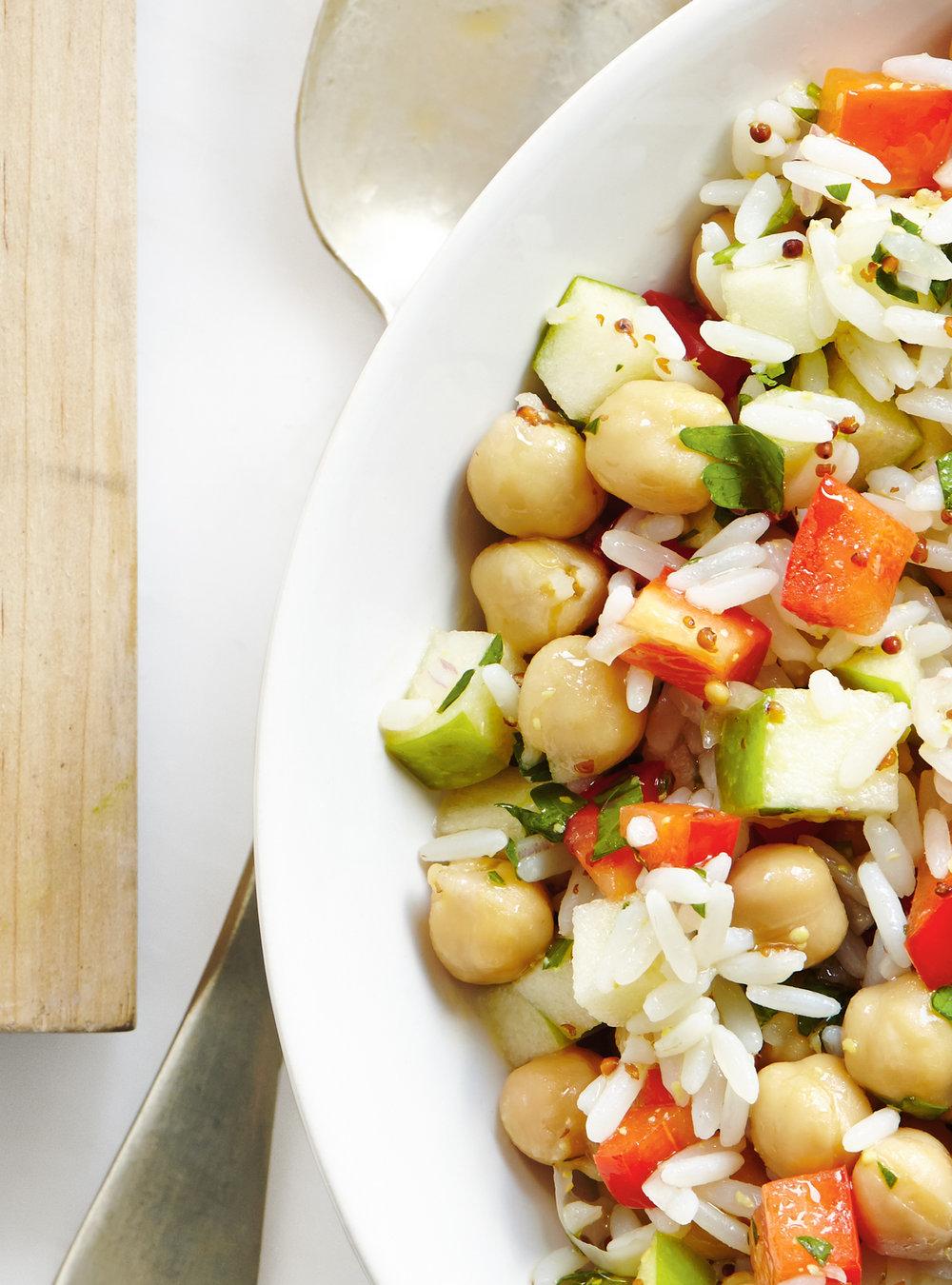 Salade de riz aux pommes et au poivron | ricardo