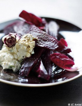 Betterave crapaudine, trévise et cottage cheese au soja pour 4 ...