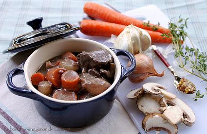 Recette de bœuf bourguignon aux légumes bio