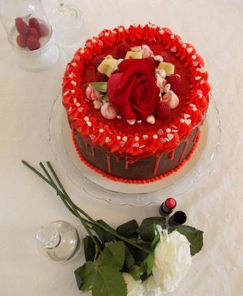 Recette de gâteau de saint-valentin au chocolat cœur framboise ...