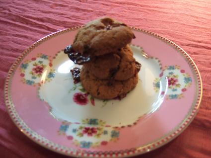 Cookies au caramel et chocolat