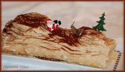 Recette de bûche de noel au caramel au beurre salé