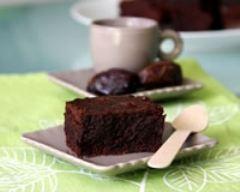 Recette fondant au chocolat aux dattes, sans beurre, sans lait et ...
