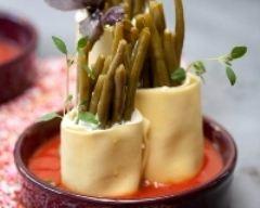 Recette cannelloni de haricots verts à la ricotta et parmesan