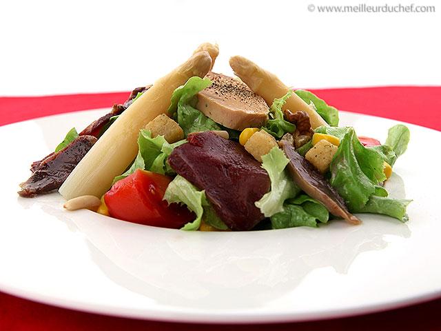 Salade landaise  la recette avec photos  meilleurduchef.com