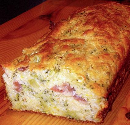 Recette de cake brocoli et jambon cru