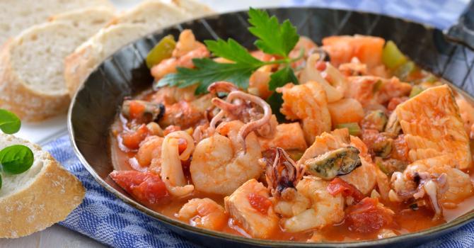 Recette de ragoût minceur de la mer à l'italienne