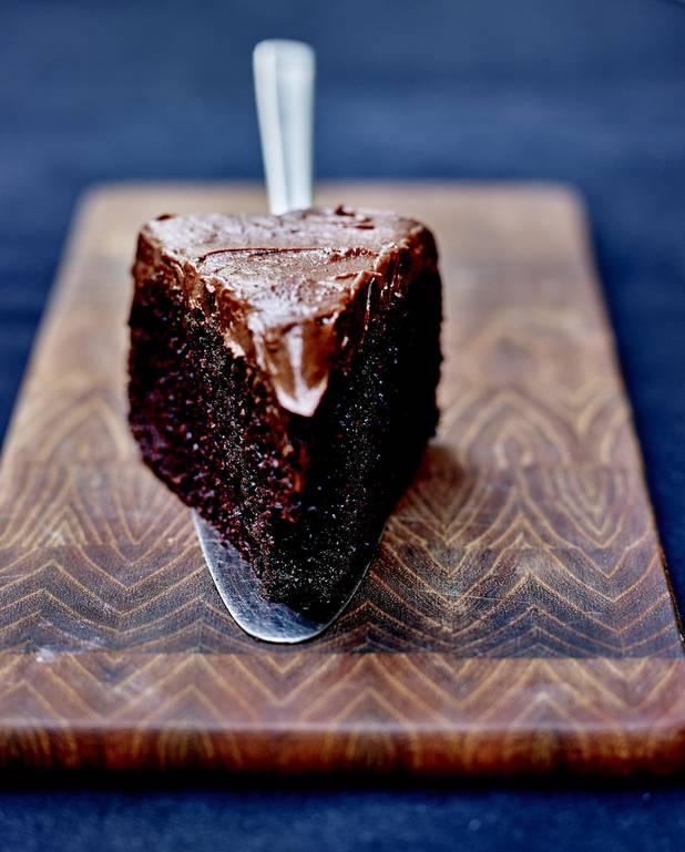 Chocolate fudge cake sans gluten, glaçage chocolat et fleur de sel ...