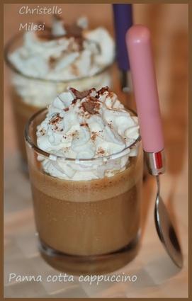 Recette de panna cotta cappuccino