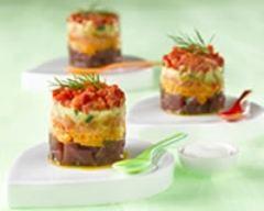 Recette tartare de thon et petits légumes