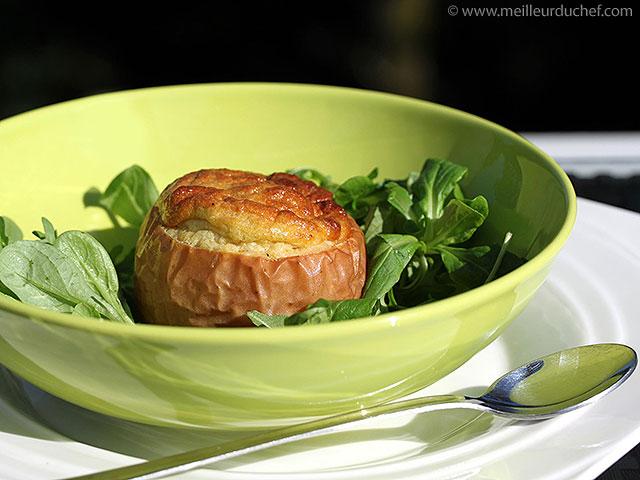 Pomme rôtie et son soufflé de foie gras  la recette avec photos ...