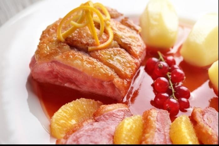 Recette de filet de canette, orange et navet, sauce groseille facile et ...