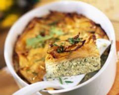 Recette gratin de patates douces à la ricotta et aux herbes