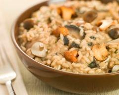 Recette risotto aux champignons des bois