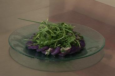 Recette de salade de pommes de terre vitelotte facile et rapide