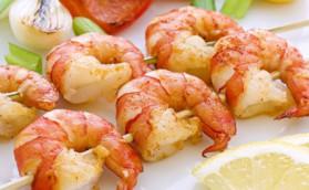 Brochettes de crevettes pour 4 personnes