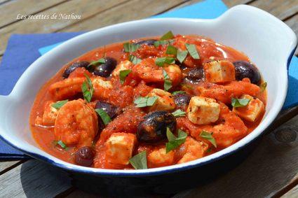 Recette de crevettes ou gambas à la grecque