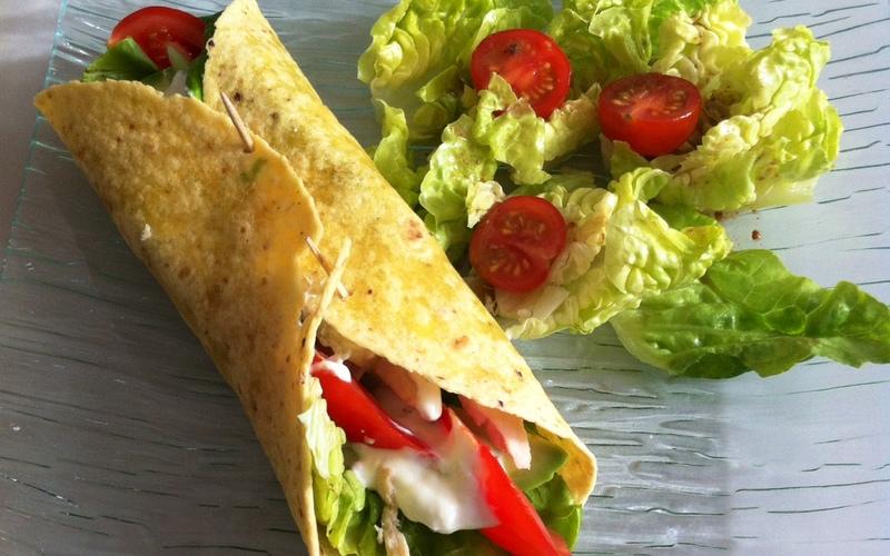 Recette wrap thon mayonnaise crudités économique et rapide ...