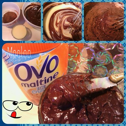 Recette de pâte à tartiner chocolat noir ovomaltine