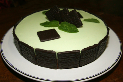 Recette entremets menthe-chocolat façon after eight