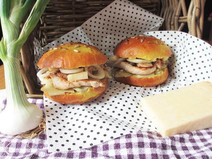 Recette de hamburger pintade, curry et cantal