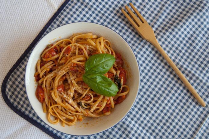 Linguine aux tomates cerises