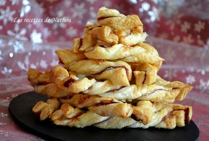 Recette de torsades feuilletées au jambon et parmesan