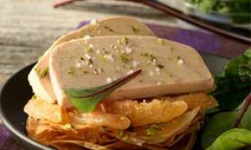Foie gras de canard en tarte fine pour 4 personnes