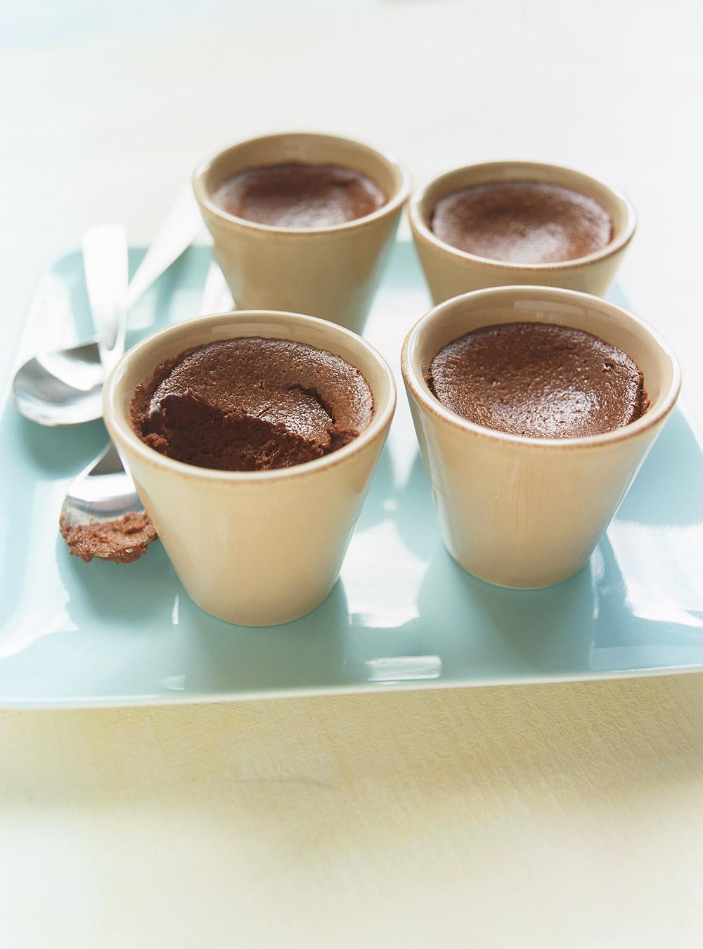 Petits pots de crème au chocolat   ricardo