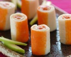 Recette makis de surimi, pomme verte et saumon fumé