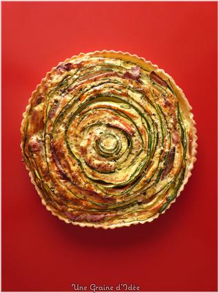 Recette de tarte spirale courgettes carottes jambon st môret