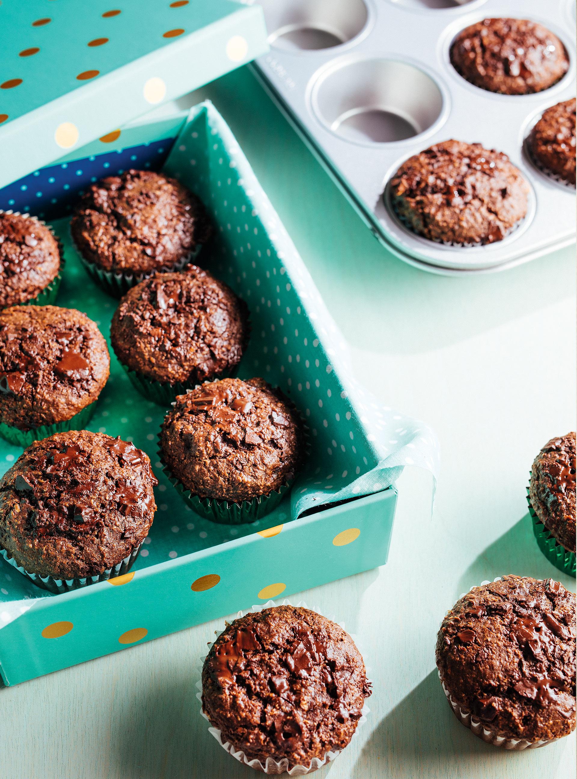 Muffins au son et double chocolat | ricardo