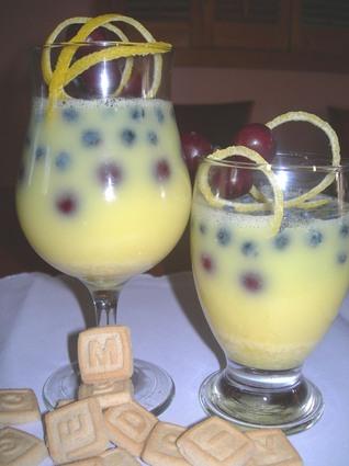 Recette de verrine au citron gazéifié