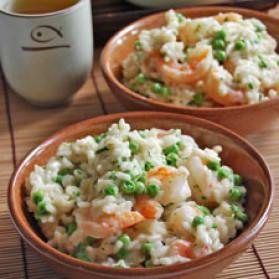 risotto asiatique aux crevettes pour 6 personnes recette. Black Bedroom Furniture Sets. Home Design Ideas