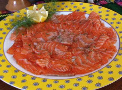 Recette de saumon mariné au sel et au sucre