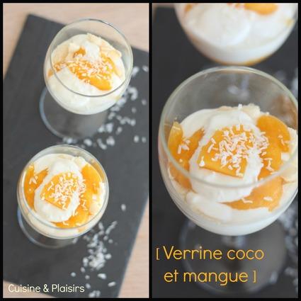 Recette de verrines douceur coco et mangue