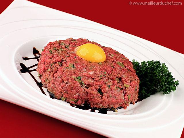 Steak tartare  notre recette illustrée  pur boeuf haché ...